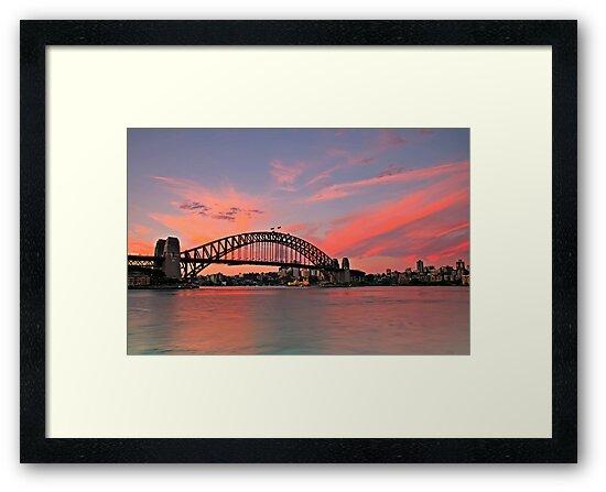 Sydney Harbour Bridge - end of a fabulous day by bazcelt
