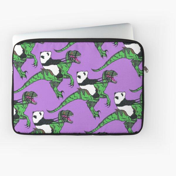 Jurassic Panda Logo Print Laptop Sleeve