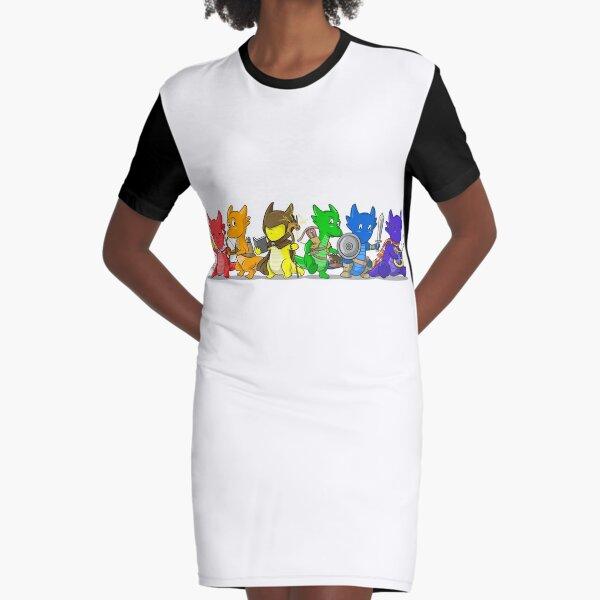 Dragon Pride Adventurers Graphic T-Shirt Dress