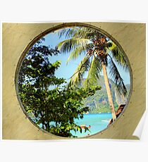 Framed View - Ko Phi Phi Island - Thailand Poster