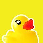 Rubber Ducky [Print   iPhone / iPad / iPod Case & Tshirt] by Damienne Bingham