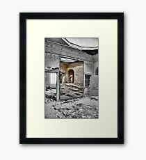 MIRROR DECAY Framed Print