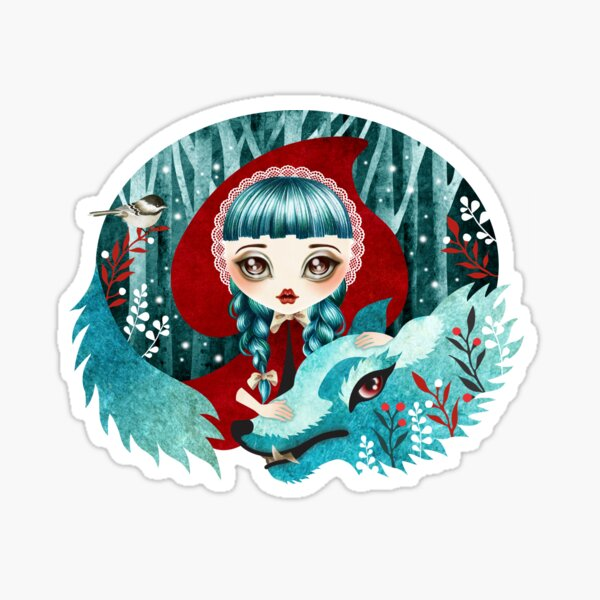 Red of the Woods Sticker