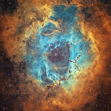 The Rosette Nebula by BlameItOnJerry