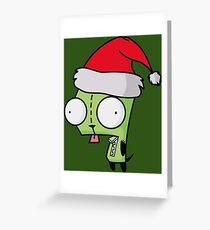 Invader Zim - Santa Gir [Green] Greeting Card