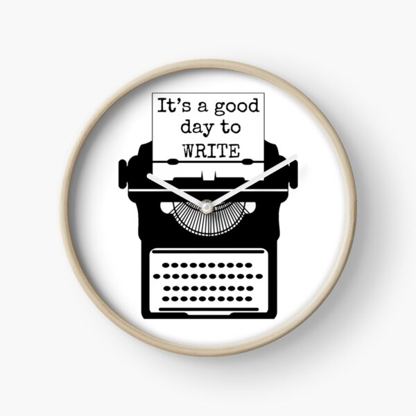 Regalo divertido para escritores de máquinas de escribir. Es un buen día para escribir una camiseta para ella. Reloj