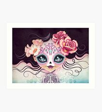 Camila Huesitos - Sugar Skull Kunstdruck