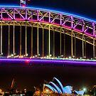 Vivid Opera House and Harbour Bridge by Erik Schlogl