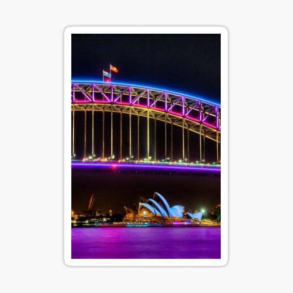 Vivid Opera House and Harbour Bridge Sticker