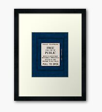 Police Telephone Framed Print