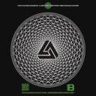 NOV 2012 MERCH PHI 777 IMPOSSIBLE CROP CIRCLE TRIANGLE BLACK WITH CEWDI QRCODE by David Avatara
