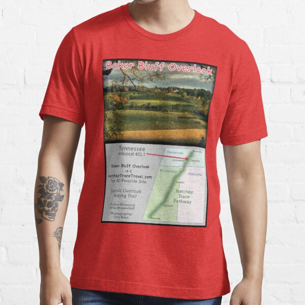 Baker Bluff Overlook (fall) on the Natchez Trace Parkway. Essential T-Shirt
