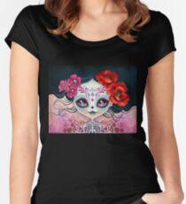 Amelia Calavera - Sugar Skull Women's Fitted Scoop T-Shirt