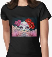 Amelia Calavera - Sugar Skull Womens Fitted T-Shirt