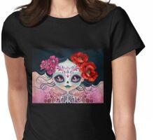 Amelia Calavera - Sugar Skull Womens Fitted T-Shirt