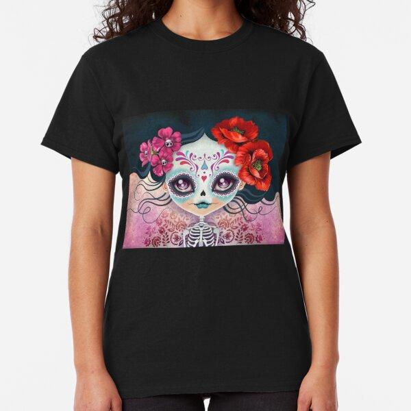Amelia Calavera - Calavera de azúcar Camiseta clásica