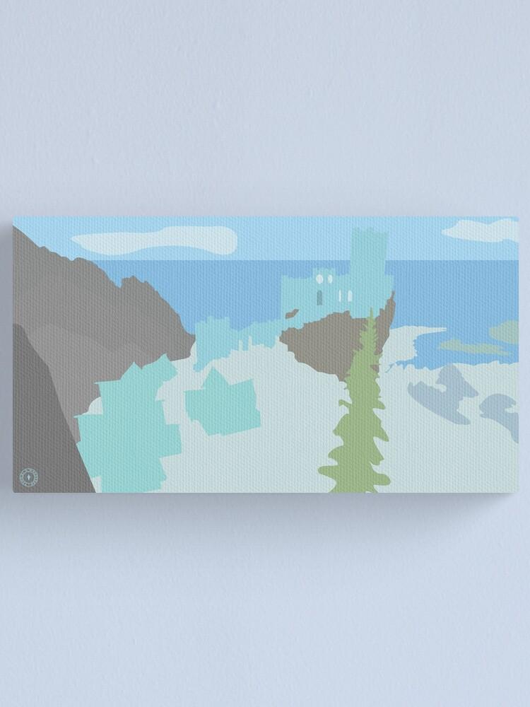 Alternate view of Skyrim Winterhold Landscape Vector Artwork Canvas Print