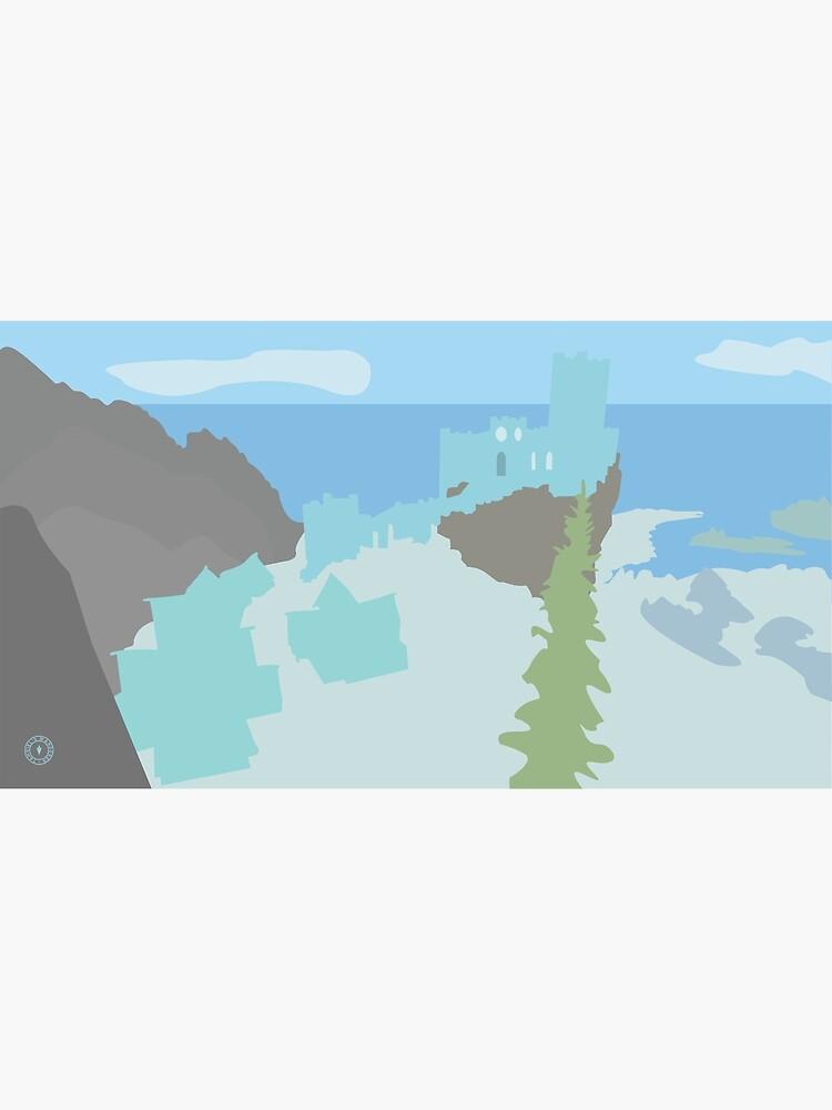 Skyrim Winterhold Landscape Vector Artwork by felixt518