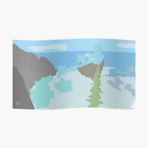 Skyrim Winterhold Landscape Vector Artwork Poster