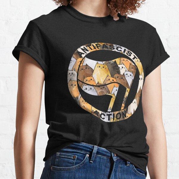 Anti facist Symbol - Cats Anti Facist Flag Classic T-Shirt