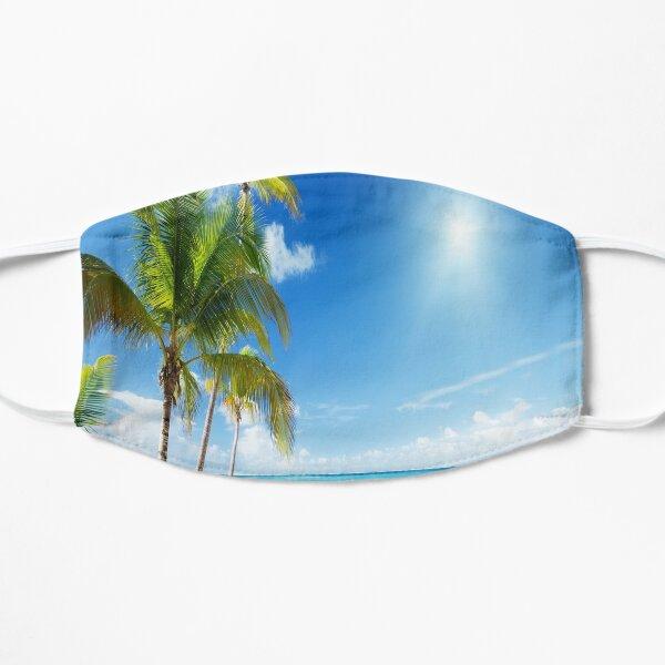 Tropical Beach Paradise Flat Mask