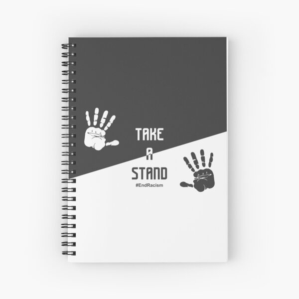 Justice For George Floyd - Black Lives Matter  - Take A Stand #EndRecism Spiral Notebook