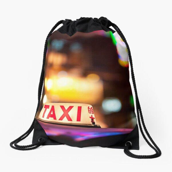 Hong Kong Taxi Drawstring Bag