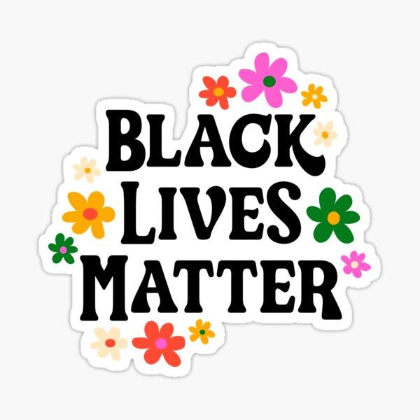 Schwarze Leben zählen Sticker