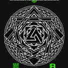 NOV 2012 MERCH HYPER PHI 777 IMPOSSIBLE CROP CIRCLE TRIANGLE BLACK WITH CEWDI QRCODE by David Avatara