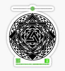 NOV 2012 MERCH HYPER PHI 777 IMPOSSIBLE CROP CIRCLE TRIANGLE BLACK WITH CEWDI QRCODE Sticker
