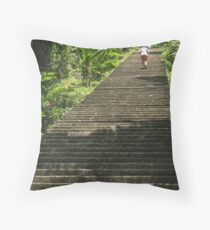 Ancient Stairs in Guatemala Throw Pillow