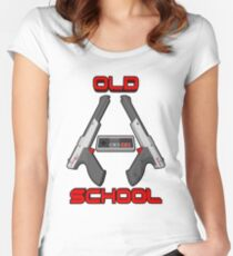 Old School Gamer 2 Women's Fitted Scoop T-Shirt