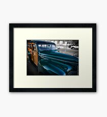 1940 Plymouth Woody Wagon Framed Print