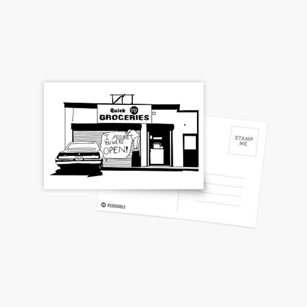 We're open Postcard