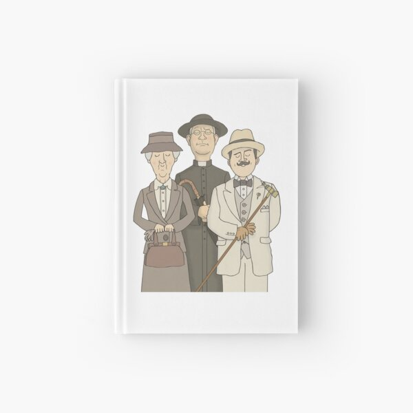 Poirot, Marple and Father Brown Hardcover Journal