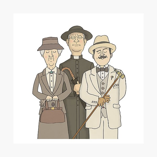 Poirot, Marple and Father Brown Photographic Print