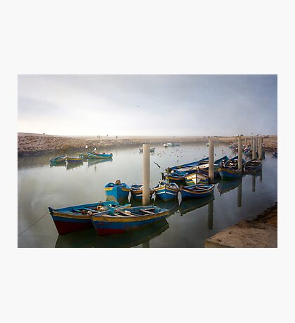 Colourful Fishing Boats in Rabat, Morocco Photographic Print