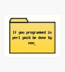 Programming in Pearl - Geek Cards Art Print