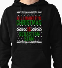 All I Want For Christmas (Sebastian Stan) Pullover Hoodie