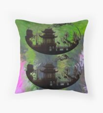 Chinese tempels Throw Pillow