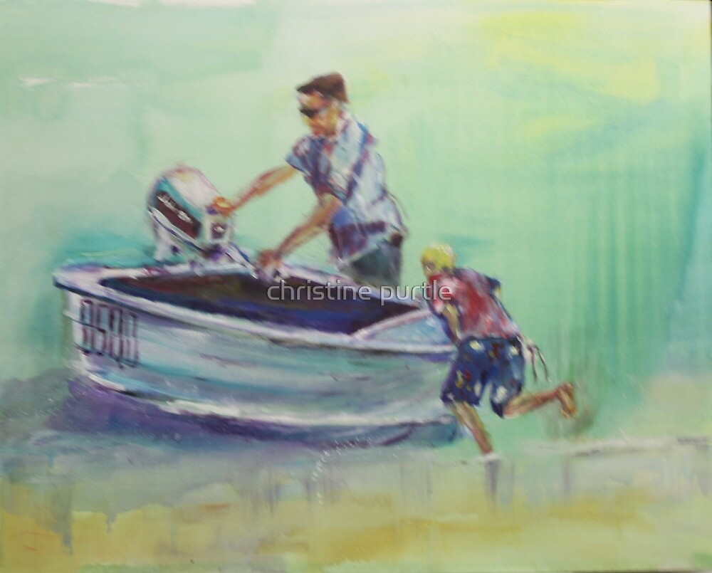 going fishing by christine purtle