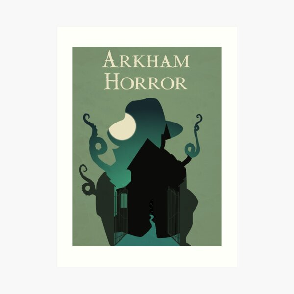 Arkham Horror Design - Minimalist Silhouette Poster Style - Board Game Art Art Print
