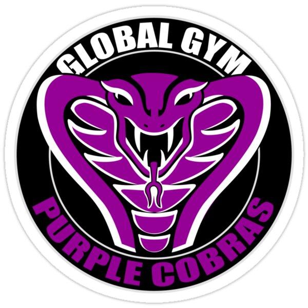 Quot Purple Cobras Quot Stickers By Dan Treasure Redbubble