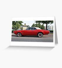 Vintage Cadillac Greeting Card