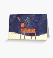Warm Winter Deer Greeting Card