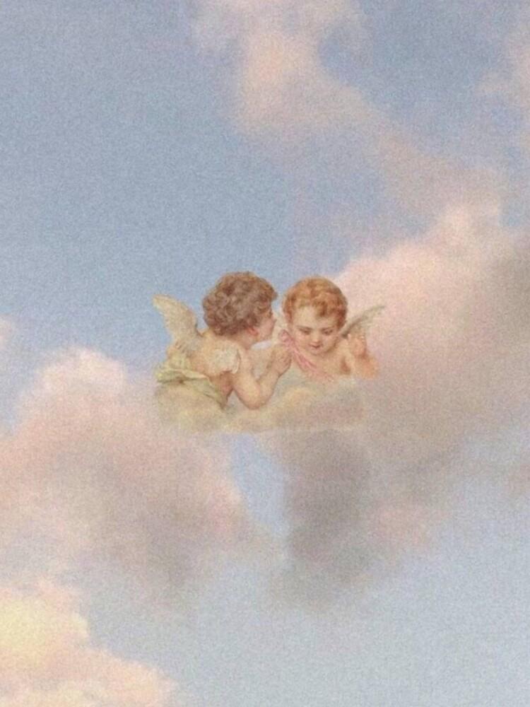 Renaissance angels in sky Cherubs Cupid by Onodera