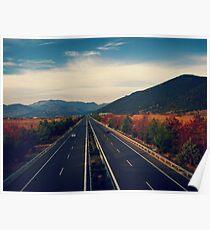 Highway Tripolis - Korinthos Poster