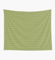 Green Zig-Zag Knit Wall Tapestry