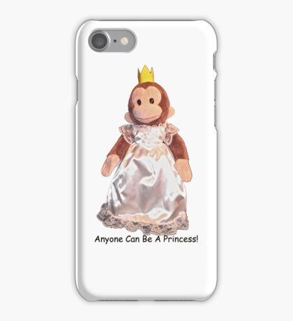 Anyone Can Be A Princess! - Black Text iPhone Case/Skin