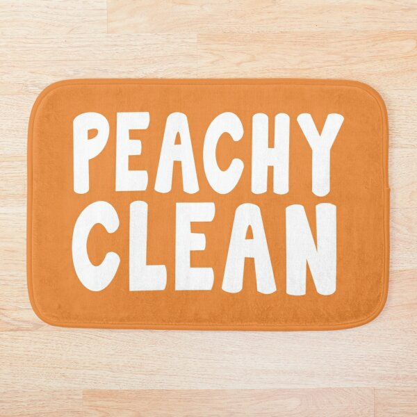 Peachy Clean - Funny Saying Bath Mat